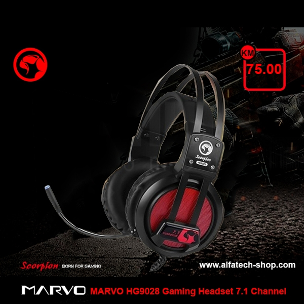 MARVO HG9028 Gaming Headset 7.1 Channel